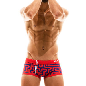 Labyrinth Trunk Boxer – Red