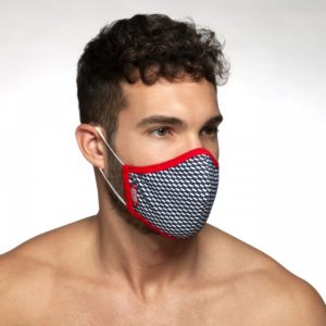 Pique Mask – Red